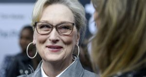 Meryl Streep arrives at The Post Washington, DC premiere at the Newseum on December 14th, 2017. Photograph:  Leigh Vogel/Getty Images