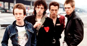 Topper Headon, Mick Jones, Joe Strummer and Paul Simonon of The Clash in New York in 1978. Photograph: Michael Putland/Getty Images