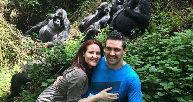 Dee and John Lee, founders of culture and travel app CultureMee, in Rwanda