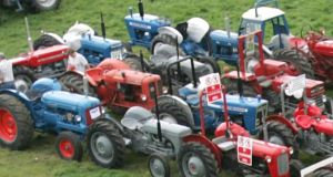 Tractors: Bord na Móna regularly uses Paul Cooke Auctions to sell on tractors and machinery it is replacing with new equipment. The Kildare company successfully auctioned significant lots of such equipment in October. Photograph: Bryan O'Brien