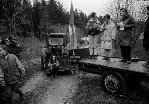 "This remrkable set of images by Tony O'Shea from ""Border Roads"" looks at ""Days of action"" on unapproved border roads from 1990 - 1994.  All photographs copyright Tony O'Shea"