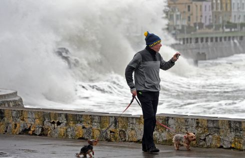 High Winds, High Waves, High Tide, at Sandycove, Co. Dublin in February. Photograph: Eric Luke / The Irish Times
