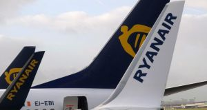 Market forces: Ryanair has enabled people to fly to more destinations far more cheaply than they could 30 years ago. Photograph: Oliver Hoslet/EPA