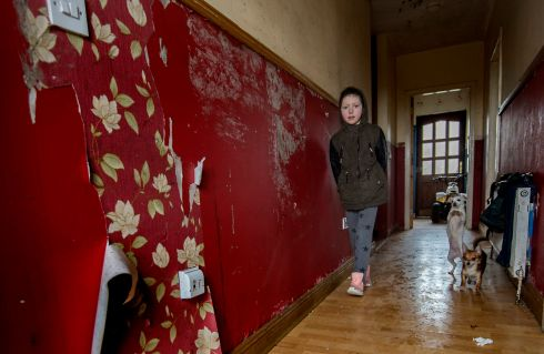 Stacy Sherlock aged 9 at St.John's Park, Ennistymon, Co.Clare. The family can no longer live in their home due to its damp condition.  Photograph: Brenda Fitzsimons / The Irish Times