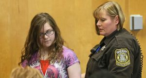 Slender Man case: Anissa Weier in court this year. Photograph: Michael Sears/Milwaukee Journal Sentinel via Getty