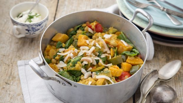 Eunice Power's spiced chickpea, sweet potato and spinach stew