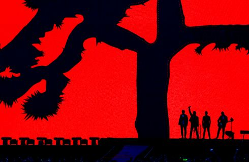 U2 during their homecoming concert at Croke Park, Dublin.  Photograph: Cyril Byrne / The Irish Times
