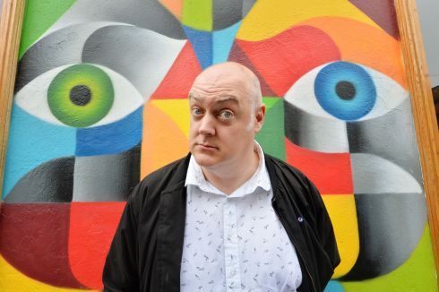 Dara O'Briain photographed in Drury Street for the Irish Times Magazine. Photograph: Alan Betson / The Irish Times