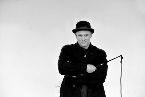 Rory Nolan, actor,  in Waiting for Godot rehearsals at the  Abbey theatre.  Photograph: Alan Betson / The Irish Times