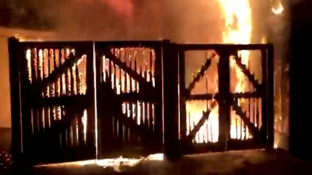 London Zoo is seen on fireon December 23rd, 2017 in this image taken from video footage obtained from social media. Photograph: Brendan Cooney/via REUTERS