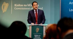 Leo Varadkar admitted he was unable to say when real progress would be made to bring the homeless levels down. Photograph: Alan Betson / The Irish Times