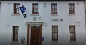 A file image of Dunmanway Garda station which a court heard was attacked by two men armed with an iron bar.  Photograph: Google Street view