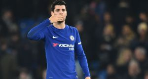 Chelsea's Spanish striker Alvaro Morata is back from suspension. Photograph: Getty Images