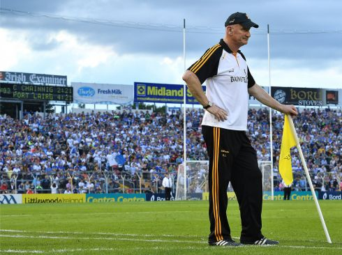 8 July 2017 -  Kilkenny manager Brian Cody near the end of the GAA Hurling All-Ireland Senior Championship Round 2 match between Waterford and Kilkenny at Semple Stadium in Thurles, Co Tipperary.   Photograph: Brendan Moran/Sportsfile