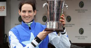 Rachael Blackmore became the first female rider to win Ireland's conditional jockeys title at Punchestown Festival last April. Photograph: Lorraine O'Sullivan/Inpho