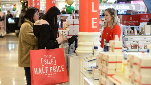 Shoppers at Arnotts Winter Sale on St Stephen's Day at Henry Street, Dublin. Photograph: Dara Mac Dónaill/The Irish Times