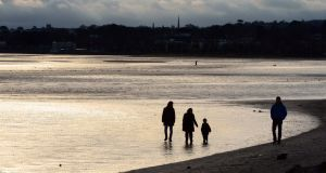 People on Sandymount Strand in Dublin. A cold snap is on the way, according to forecasters. File photograph: Eric Luke/The Irish Times