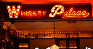 The Whiskey Palace in the Palace Bar on Dublin's Fleet Street, which is seeking to capitalise on the strong growth in sales of the spirit. Photograph: Alan Betson / The Irish Times