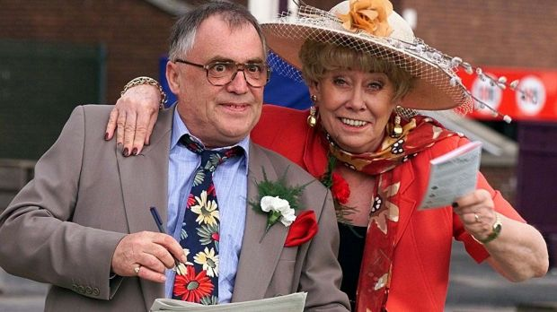 Actor Elizabeth Dawn, right, who died in September, played Vera Duckworth in Coronation Street for 34 years. She is pictured with her co-star Bill Tarmey, who played her husband Jack. Tarmey died in 2012 . Photograph: Phil Noble/PA Wire