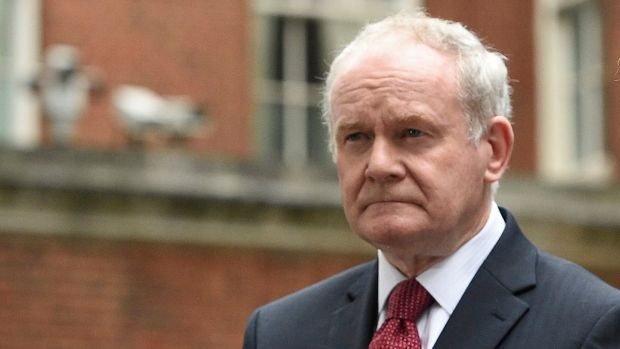 Martin McGuinness, policitian and former IRA member, who died in March. Photograph: Facundo Arrizabalaga/EPA