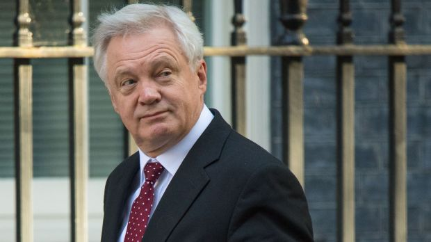 UK Brexit minister David Davis. Chris Johns took Westminster to task for its ignorance of Irish affairs.