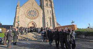 The funeral of former public servant Dr Maurice Hayes at St Patrick's Church, Downpatrick, Co Down following his death aged 90 two days before Christmas. Photograph: Niall Carson/PA Wire