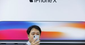 The best-performing technology sector has declined for the past five trading sessions, falling the most on Tuesday after reports of tepid iPhone X demand hit Apple shares and its suppliers. Photograph: Thomas Peter/Reuters