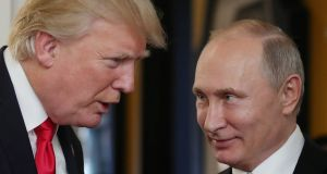 The chief foreign beneficiary of Donald Trump's insularity was Vladimir Putin, who has used his new strength in the Middle East as a springboard to bring Russia back to the geopolitical top table.  Photograph: Mikhail Klimentyev/AFP/Getty Images