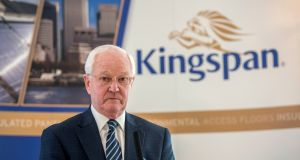 Kingspan chairman Eugene Murtagh: the Cavan-based company traded as high as €37 on Thursday, matching a record high reached in October, valuing the company at €6.63bn. Photograph: Brenda Fitzsimons