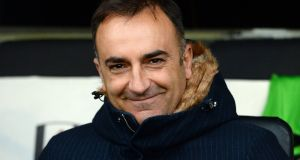 Swansea have confirmed the appointment of Carlos Carvalhal as their new manager until the end of the season. Photograph: Victoria Jones/PA
