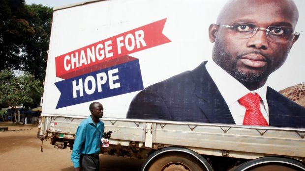Former footballer George Weah set to win Liberia presidency