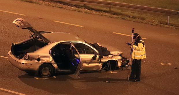 Major delays on N7 as three teenagers are arrested after crash