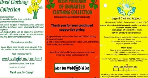 The Charities Regulator has published stickers for clothing collections distributed by organisations that are not registered  sc 1 st  The Irish Times & Concern over fake door-to-door clothing collections pezcame.com