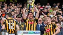 Michael Fennelly lifts the Liam MacCarthy Cup in 2015. Photograph: Morgan Treacy/Inpho