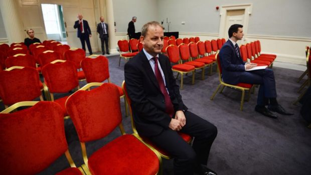 Garda whistleblower: Sgt Maurice McCabe on the first day of the Charleton tribunal. Photograph: Alan Betson
