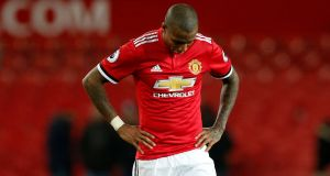 Ashley Young has been charged with violent conduct by the FA. Photograph: Andrew Yates/Reuters