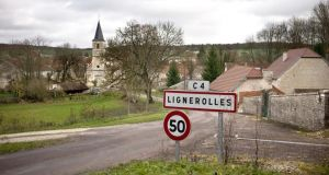 The village of Lignerolles in eastern France. Photograph: Jeff Pachoud/AFP/Getty Images