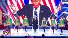 Political rally: 'Donald Trump' Irish dances on Romanian television