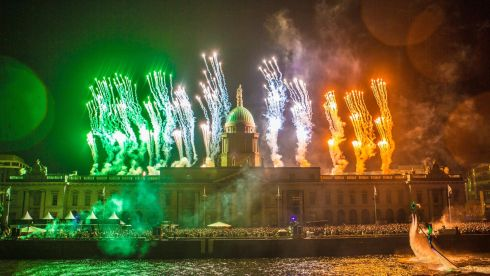 The Custom House, Dublin's iconic landmark, is the centre for NYF Dublin's countdown and New Year's Day celebrations this year. Photo: Allen Kiely / Failte Ireland