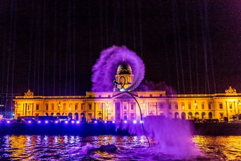 Now in its fourth year, New Year's Festival Dubiin takes place over 2 days with 4 spectacular events from 31 December 2017 until 1 January 2018. The Custom House, Dublin's iconic landmark, is the centre for NYF Dublin's countdown and New Year's Day celebrations this year. Photo: Allen Kiely / Failte Ireland