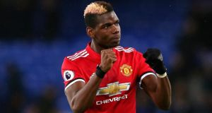 Paul Pogba was man of the match as Manchester United beat Everton at Goodison Park. Photograph: Jan Kruger/Getty
