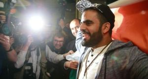 Ibrahim Halawa  at Dublin Airport in October  after spending four years in an Egyptian prison. Photograph: Nick Bradshaw.
