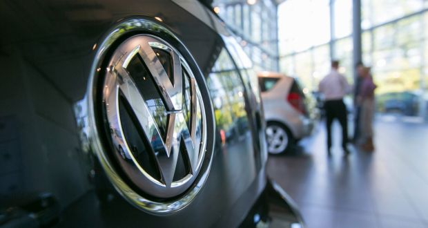 Volkswagen remains the most popular new car brand with 13,829 registrations in 2017. Photograph: Krisztian Bocsi/Bloomberg via Getty Images