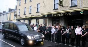 The funeral of Andrew Dolan in Carrick-on-Shannon, Co Leitrim, in January 2012. Photograph: Brian Farrell