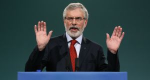 Sinn Féin president Gerry Adams has called on the British and Irish governments to make decisions for Northern Ireland. Photograph: Brian Lawless/PA Wire