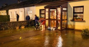 Flood waters entered houses on Fr Griffin Road, Galway, during Storm Eleanor on Tuesday evening. Photograph: Joe O'Shaughnessy.