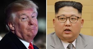 US president Donald Trump has told North Korea's Kim Jong-un that his nuclear button is bigger and more powerful than that of his rival. Photograph: Nicholas Kamm/AFP/Getty Images.