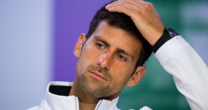 Novak Djokovic's Australian Open participation is in doubt after he withdrew from an exhibition event in Abu Dhabi with an elbow injury. Photograph: Joe Toth/PA