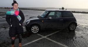 Selina Callaghan said she was 'cool, calm and collected' as she drove to safety during Storm Eleanor. Photograph: Brian Lawless/PA Wire