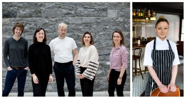 Food (from left to right): Colin Judge, Aoife Allen, Harry Colley, Suzanna Melinn, Joanna Bourke and Gráinne O'Keefe. Photograph: Alan Betson /The Irish Times